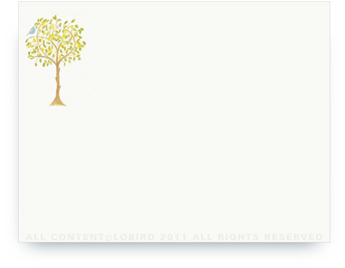 """Lemon Tree with Bird - Non-Personalized Note Cards (4.25"""" X 5.5"""")"""