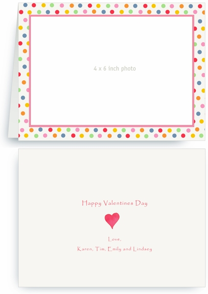 Mixed Spring Dots - Photo Valentines Card