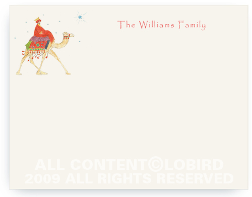 Wise Man on Camel - Note cards