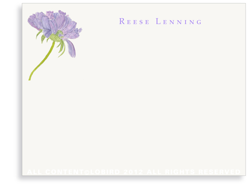 Purple Pincushion - Flat Note cards