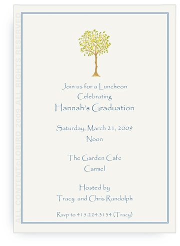 Lemon Tree - Invitations