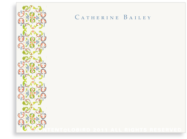 Tapestry - Paloma - Flat Note cards