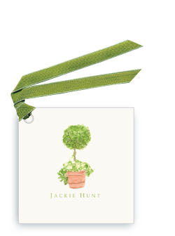Topiary in Terra Cotta Pot - Gift Tags