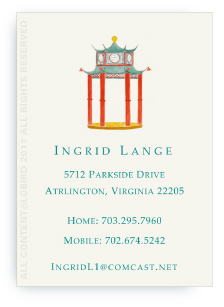 Chinoiserie Pagoda Pavilion - Calling Cards