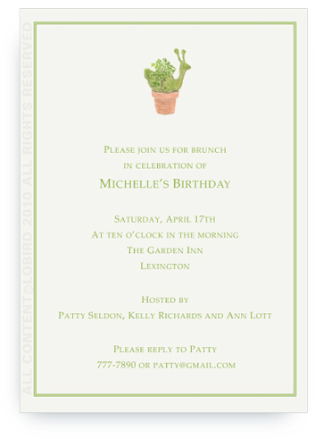 Snail Topiary - Invitations