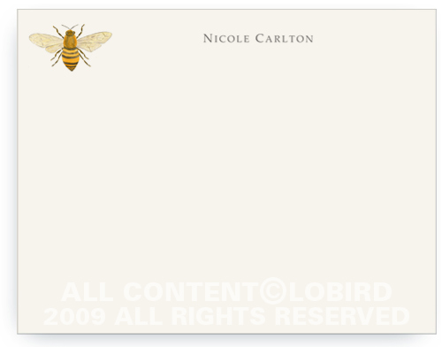 Bee - Flat Note cards