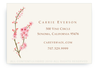Cherry Tree Blossom - Calling Card