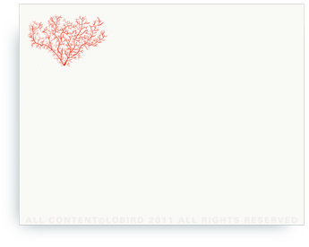"Coral - Non-Personalized Note Cards (4.25"" X 5.5"")"