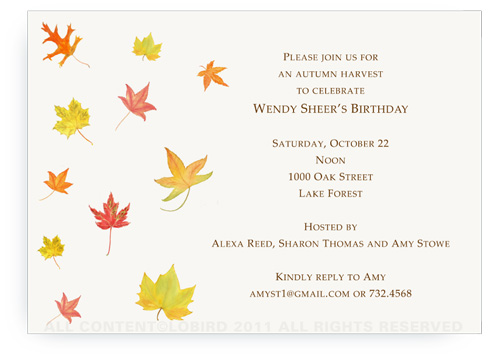 Autumn Leaves - Invitations