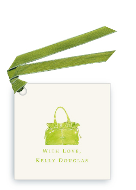 Lime Handbag - Gift Tags