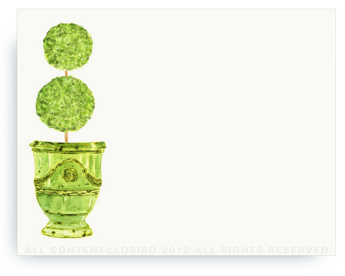 Antique Green Anduze- Bouble Ball Topiary