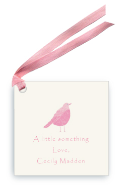 Pink Song Bird - Gift Tags