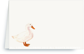 White Duck - Place Cards
