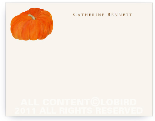 Heirloom Pumpkin - Flat Note Cards
