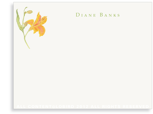 Peruvian Lily - Flat Note Cards