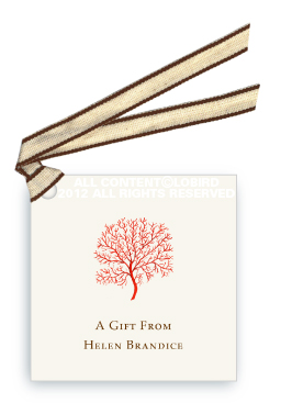 Coral Fan - Red -Gift Tags