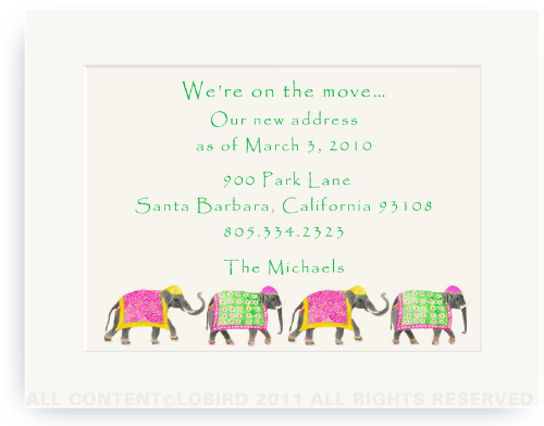 Festive Elephants - Spring Parade - Moving Announcements