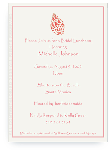 Babylon Sea Shell - Invitations
