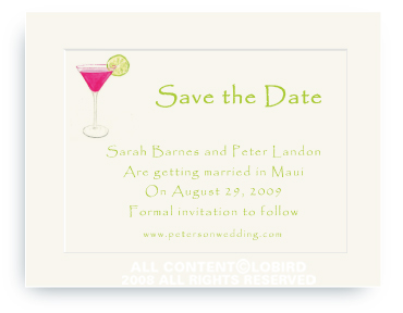 Pink Cosmo - Save the Date Cards