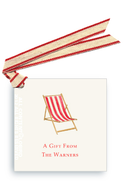 Beach Chair - Red -Gift Tags
