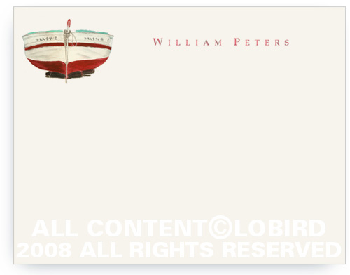 Red Boat - Flat Note cards