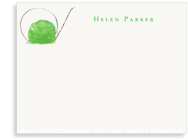 Green Watering Can - Flat Note cards