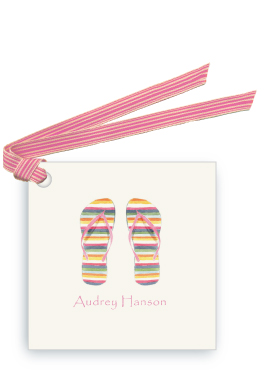 Striped Flip Flops-Gift Tags