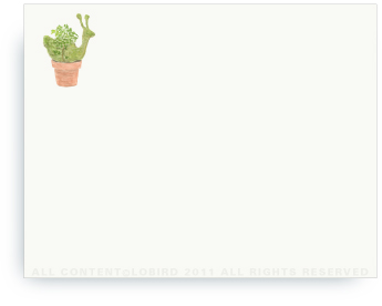 "Snail Topiary - Non-Personalized Note Cards (4.25"" X 5.5"")"