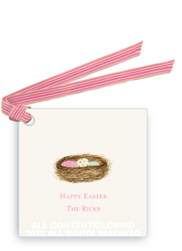 Nest with Easter Eggs - Gift Tags