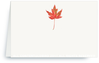 Rustic Red Autumn Leaf - Place Cards