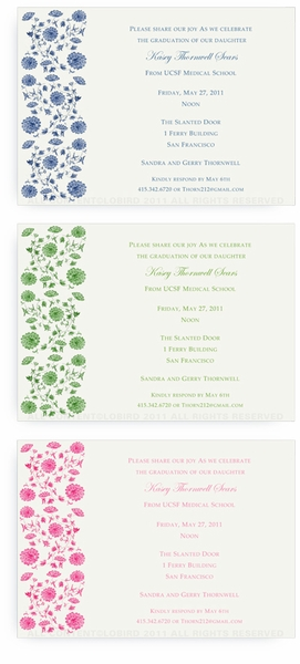 Chinese Floral Tapestry - Invitations