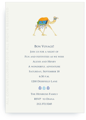 Festive Camel - Aqua Blue - Invitations