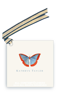 Butterfly - Blue/Red - Gift Tags