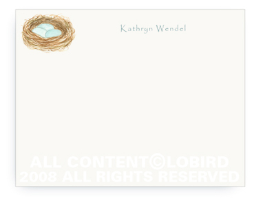Robins Nest - Flat Note Cards