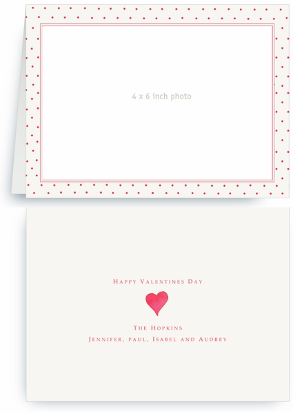 Strawberry Swiss Red Dots - Photo Valentines Card