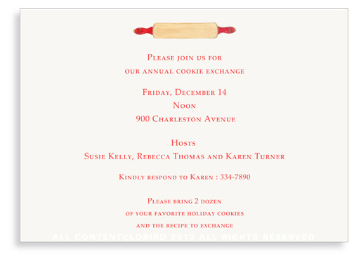 Rolling Pin Invitations