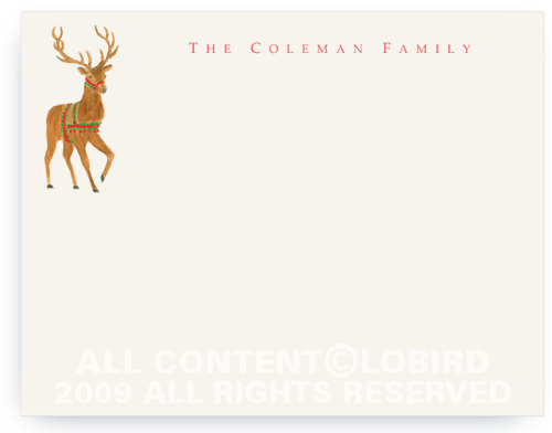 Holiday Reindeer - Note cards