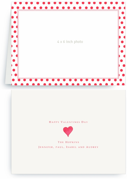 Strawberry Red Dots - Photo Valentines Card