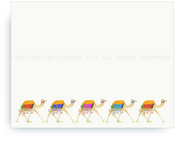"""Festive Camel Parade - Non-Personalized Note Cards (4.25"""" X 5.5"""")"""