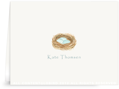 Robin's Nest - Folded Note Cards