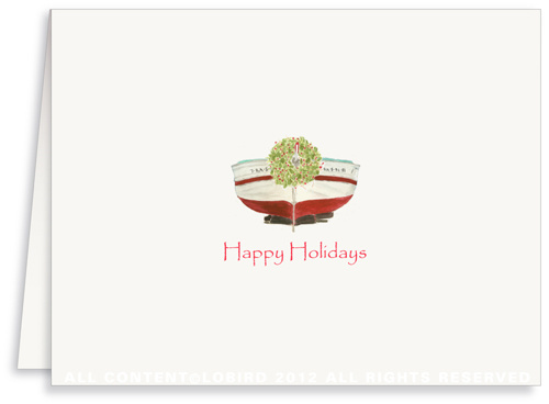 Holiday Boat -Greeting Card