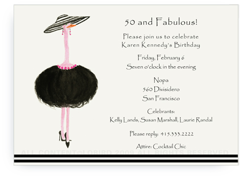 French Ostrich - Gigi - Invitations