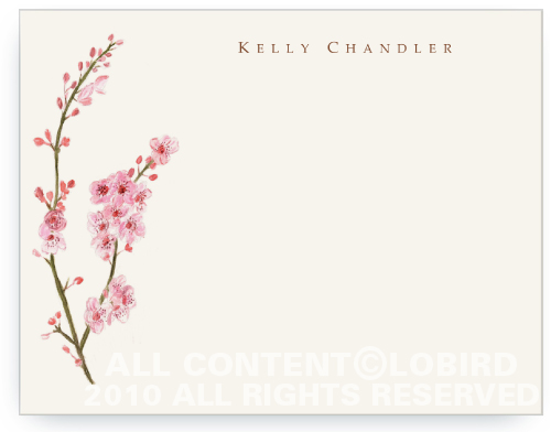 Cherry Tree Blossom - Flat Note Cards