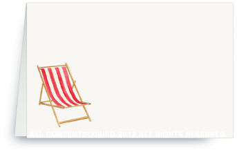 Beach Chair - Red - Place Cards