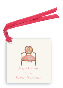 French Arm Chair - Gift Tags