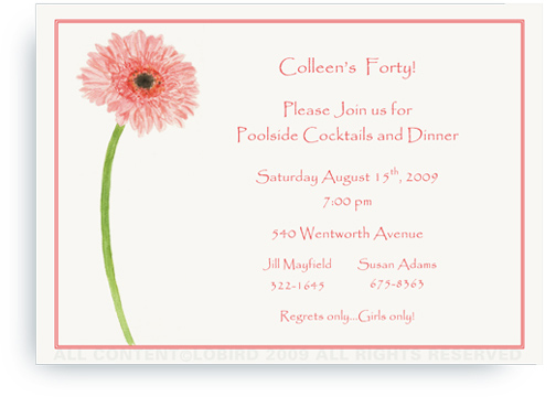 Gerber Daisy - Invitations