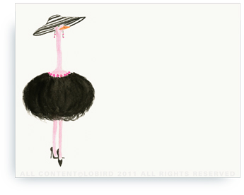"French Ostrich - Gigi - Non-Personalized Note Cards (4.25"" X 5.5"")"