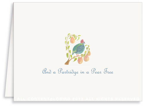 Partridge in a Pear Tree - Holiday Greeting Cards