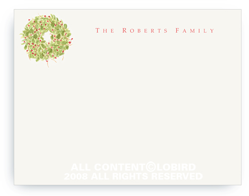 Holiday Wreath - Note cards