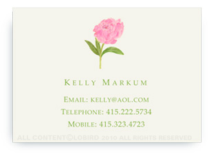 Pink Peony - Calling Cards